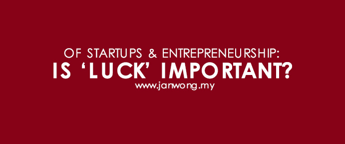 Is luck important in startups